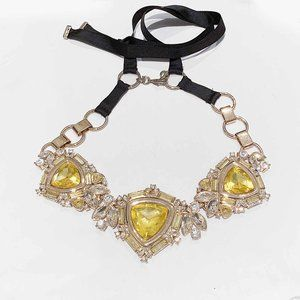 Banana republic statement necklace yellow